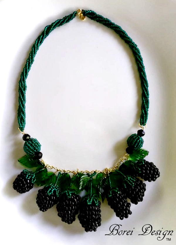 Beaded Berry DIY Necklace