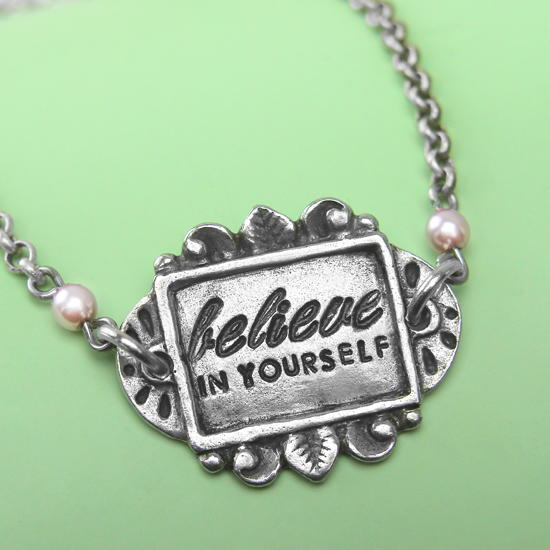 Believe in Yourself Stamped Bracelet