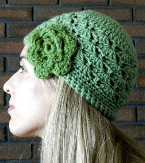 Shell Stitch Crochet Hat Pattern Allfreecrochetcom