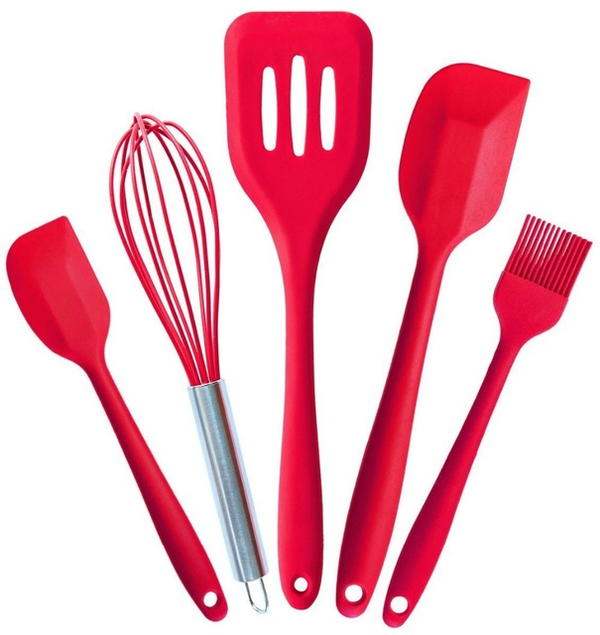 Ultimate 5 Piece Silicone Baking Utensil Set