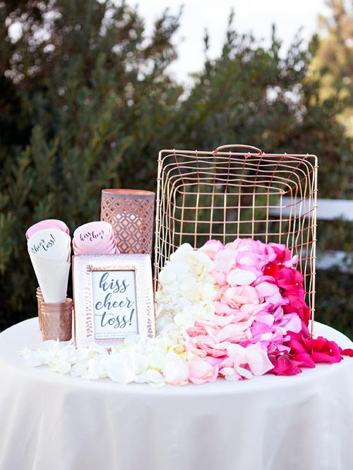 DIY Petal Toss Bar