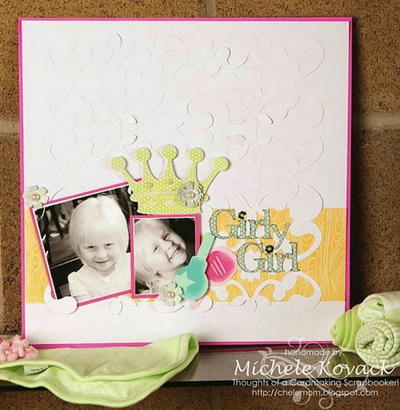 Girly Girl Scrapbook Page Layout