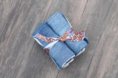 Upcycled Denim Napkins Tutorial