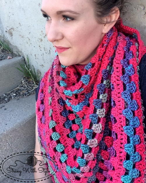 Granny Stitch Triangle Crochet Scarf Pattern