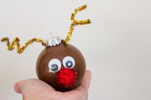 One Hour Rudolph DIY Ornament
