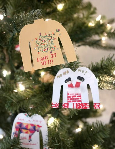 1 Ugly Sweater Ornaments