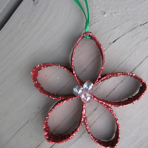 Toilet Paper Roll Flower Ornament