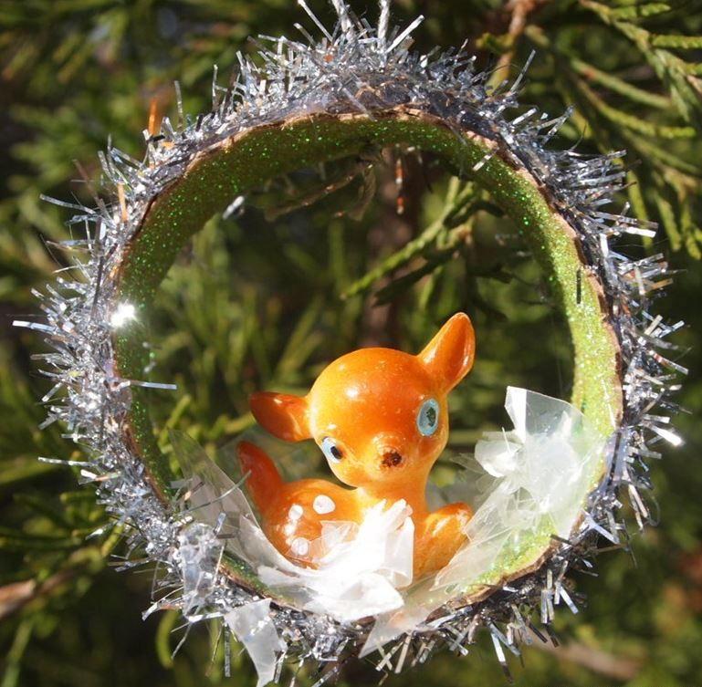 Dollar Store Vintage Vignette Diy Christmas Ornament