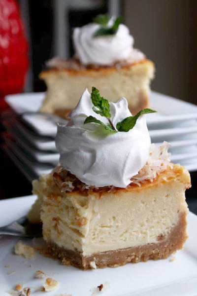 Heavenly Coconut Cheesecake   FaveSouthernRecipes.com