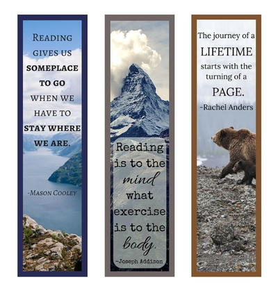 Book Quotes Printable Bookmark Set