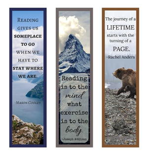 image about Printable Bookmarks With Quotes known as Guide Offers Printable Bookmark Established
