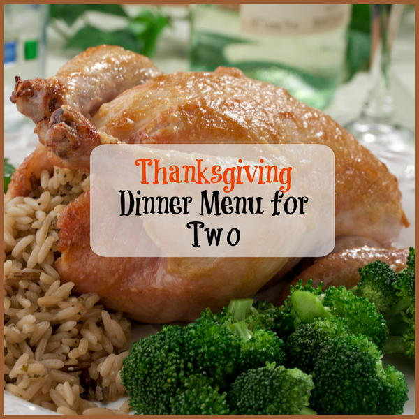 Thanksgiving Dinner Menu for Two