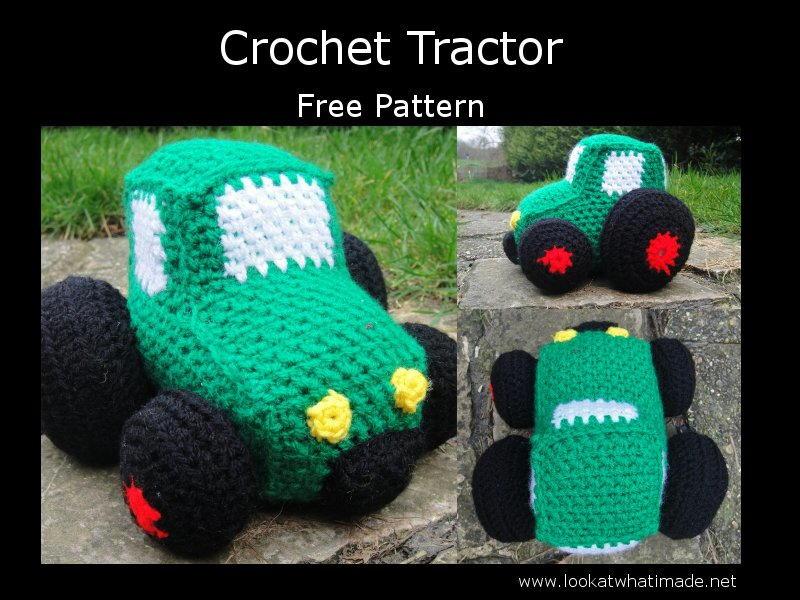 Crochet Vehicles Little Green Tractor AllFreeCrochet.com