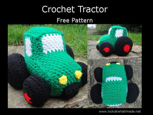 Crochet Vehicles Little Green Tractor