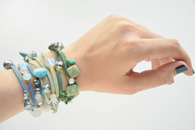 Magical Leather and Wire Wrap Bracelet