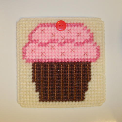 Cupcake Plastic Canvas Craft