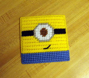 photograph regarding Free Printable Halloween Plastic Canvas Patterns called Minion Cost-free Plastic Canvas Routine