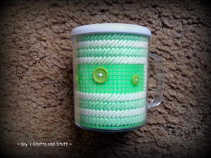 Pretty Plastic Canvas Cups