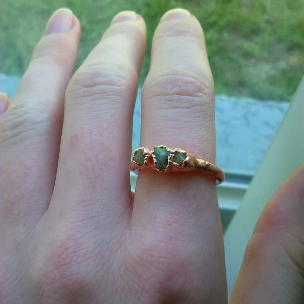 Shimmering Crystal and Copper DIY Ring