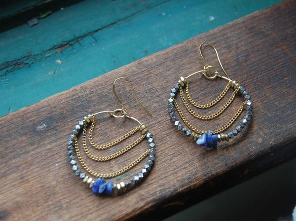 Gypsy Chain and Wire Earrings