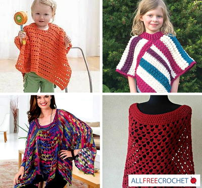 57 Simple Crochet Patterns for Ponchos  Bonus eBooks
