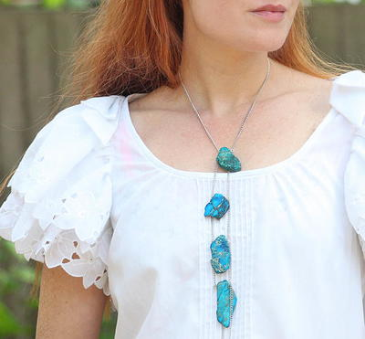 Turquoise Stone DIY Necklace