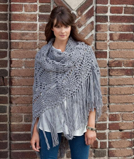 Sidewalk Shawl Crochet Pattern