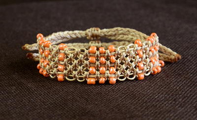 Beaded Macrame Knot DIY Bracelet