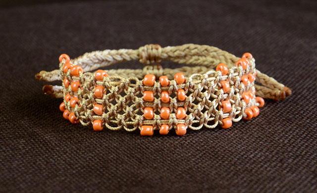 Beaded Macrame Knot Diy Bracelet Allfreejewelrymaking Com