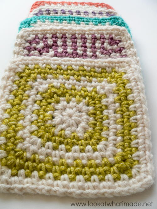Linen Stitch Granny Square Pattern