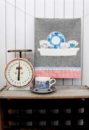 Time for Tea Dish Towel Tutorial
