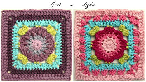 Floral Center Granny Squares