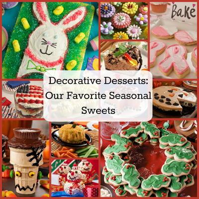 Decorative Desserts 40 Of Our Favorite Seasonal Sweets Mrfood Com