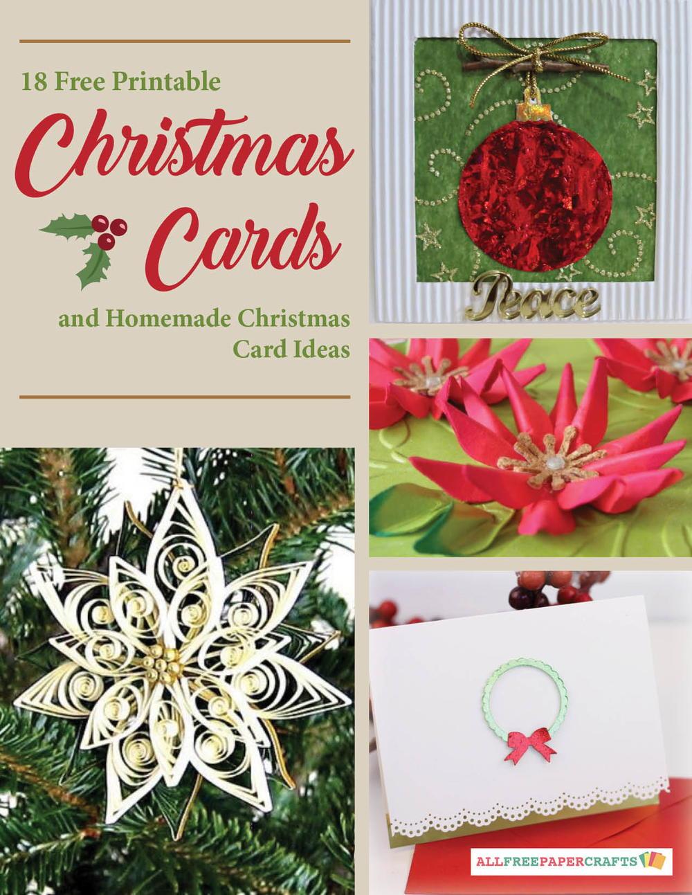 Card Making Ideas Christmas Part - 20: 18 Free Printable Christmas Cards And Homemade Christmas Card Ideas |  AllFreePaperCrafts.com