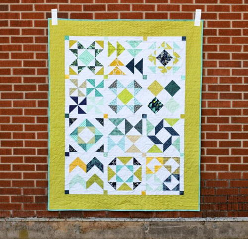 Perfect Year Half-Square Triangle Quilt