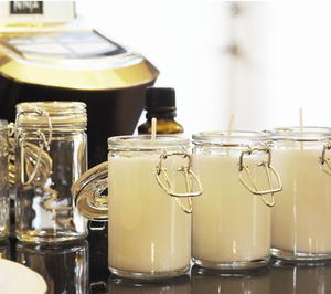 Beeswax Candles in a Jar