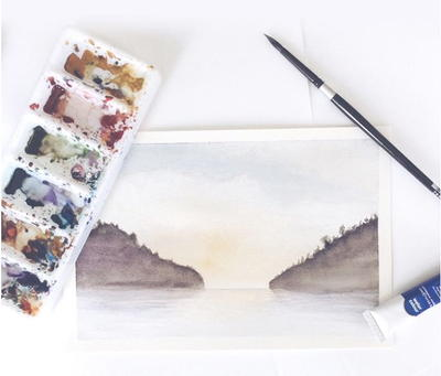 Absurdly Simple Watercolor Landscape