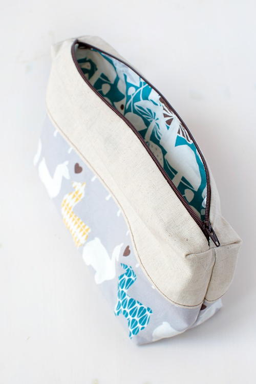 Cute DIY Zipper Pouch
