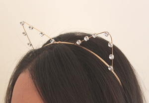 Bejeweled Cat Ears DIY Headband