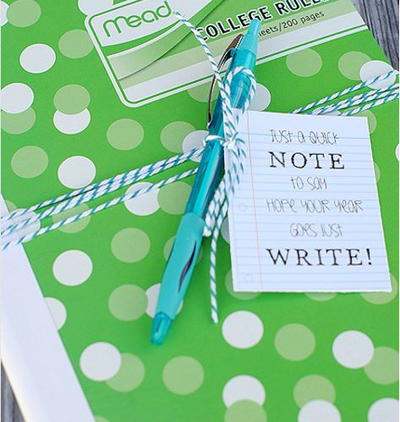 Cute Notebook and Printable Tag Student Gifts