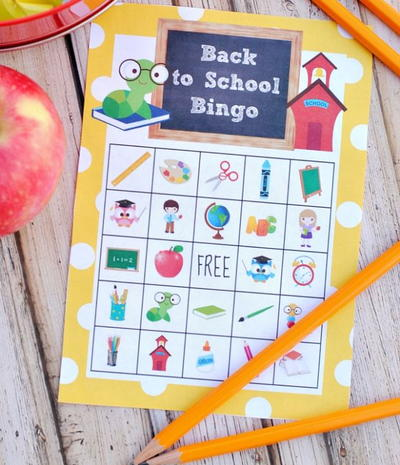 Back to School Printable Bingo Cards