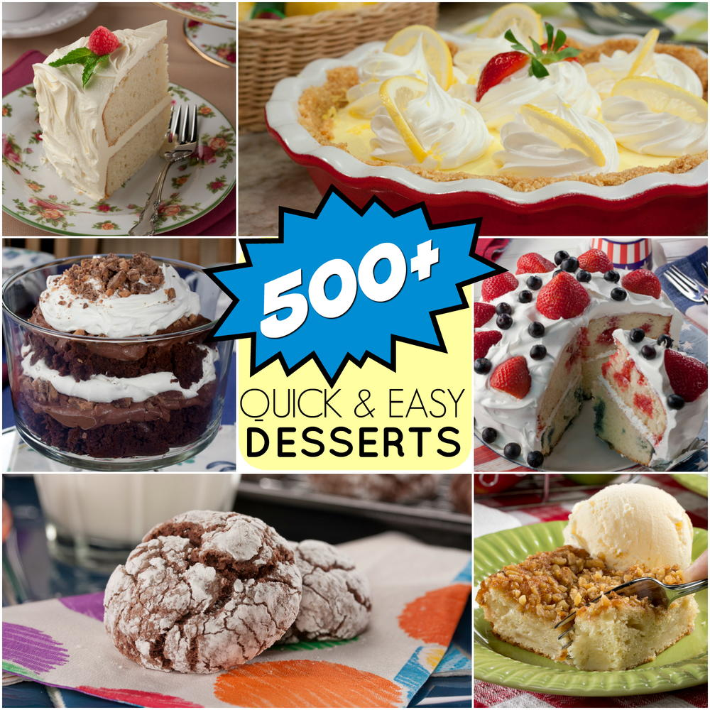 Quick easy dessert recipes 501 great dessert recipes for Quick dessert recipes with pictures