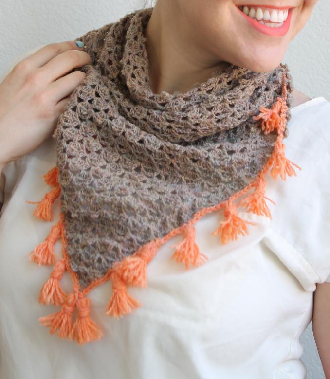 Lacy Tassel Crochet Scarf Allfreecrochet Com