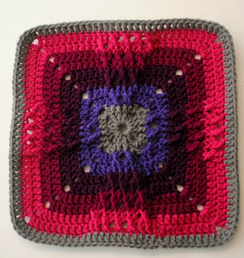 Colorful Windmill Crochet Square