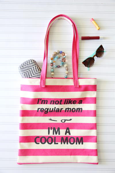 Im a Cool Mom Tote Tutorial