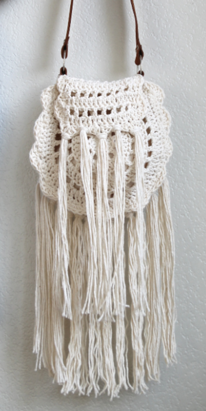 Boho Tassel Crochet Bag