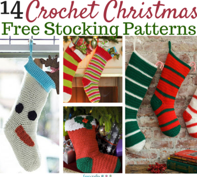4 Designs Christmas Stocking Crochet Pattern Booklet