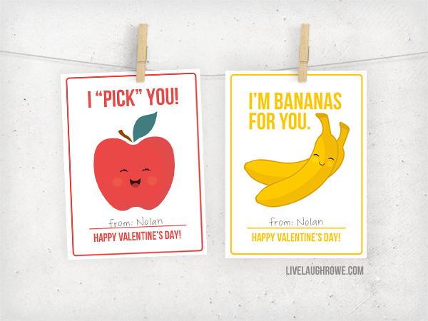Fruit Puns Valentine Printables Favecrafts Com