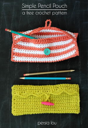 Scalloped Edge Pencil Pouch