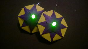 Mardi Gras Glowing Paper Earrings